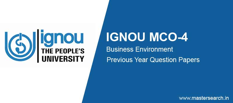 Ignou MCO 4 Question Papers free download