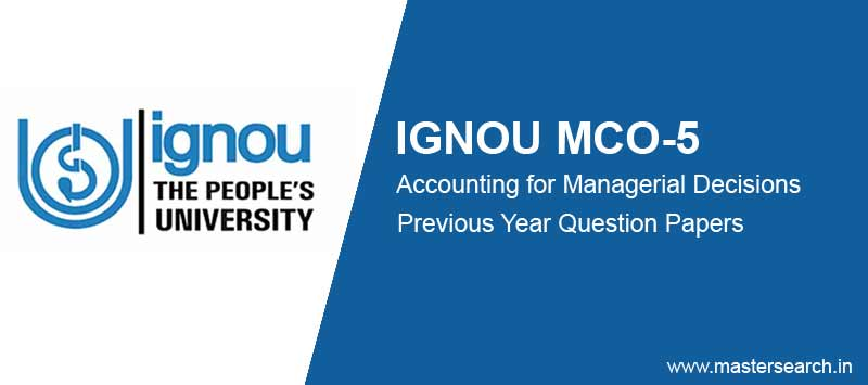 Ignou MCO 5 Question Papers free download