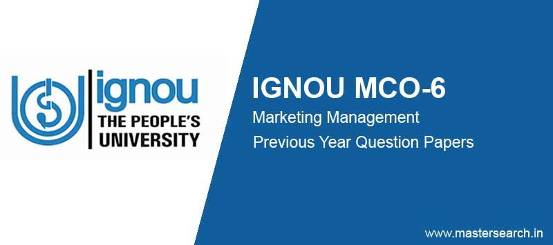 Ignou MCO 6 Question Papers free download