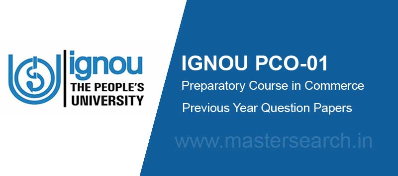 Ignou PCO-01 question paper free download