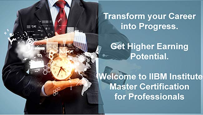Master Certification from IIBM