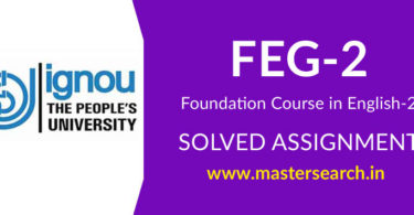 IGNOU FEG 2 Solved Assignment
