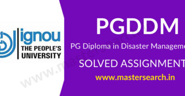 IGNOU PGDDM Solved Assignment 2019-20